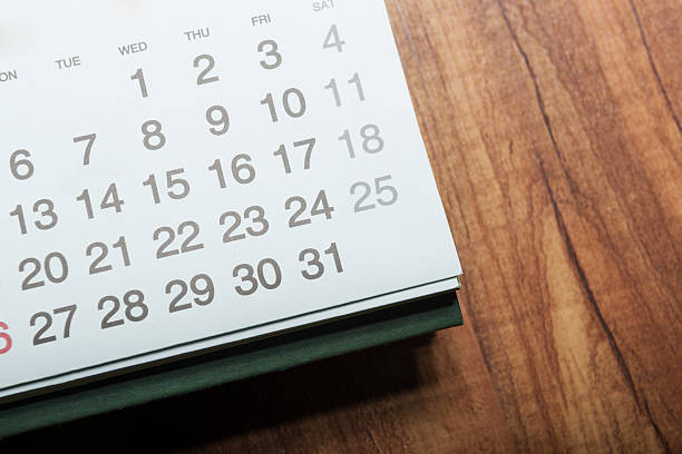daily plans - holiday calendars stock pictures, royalty-free photos & images