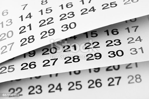 184357018 istock photo Daily plans 637393114