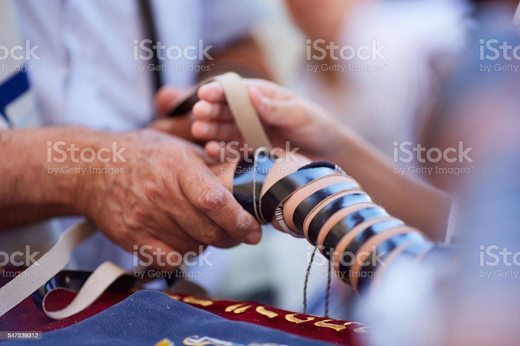Täglich Gebet an westliche Wand. Altstadt, Jersalem, Israel - Lizenzfrei Altstadt Stock-Foto