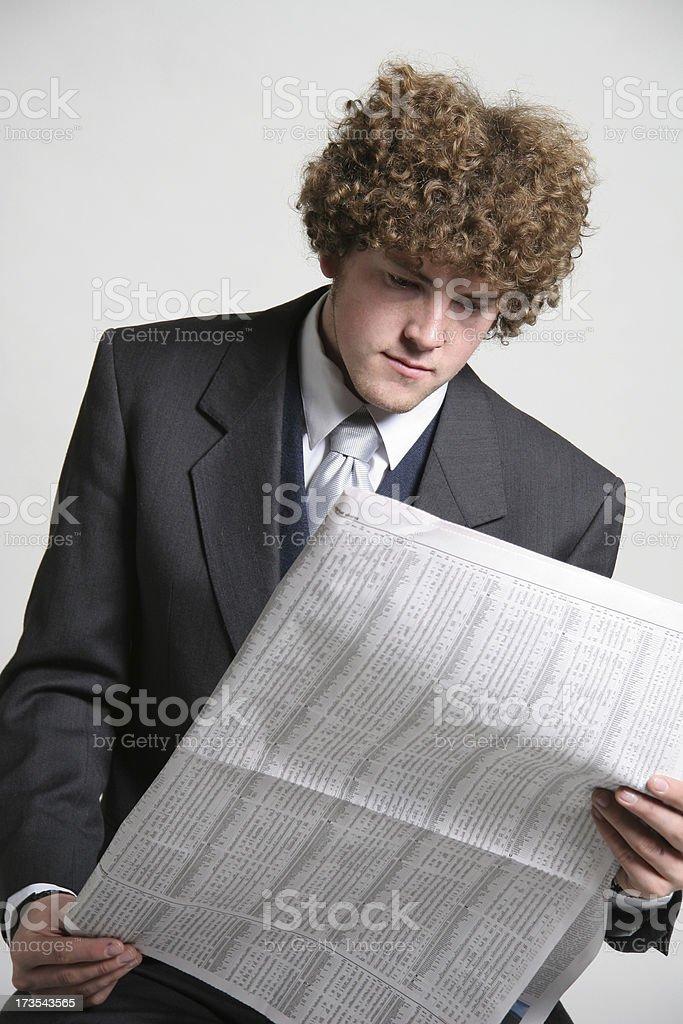 Daily reading royalty-free stock photo