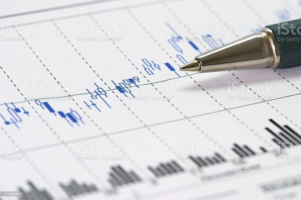 Daily trading activity royalty-free stock photo