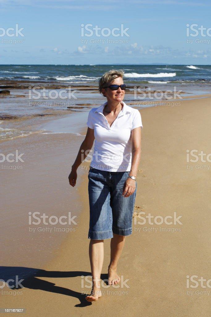 daily walking regime royalty-free stock photo