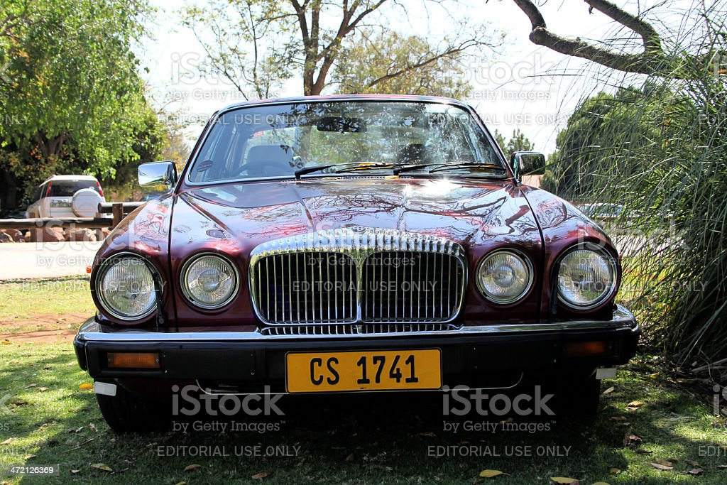 1984 Daimler Double Six Series III V12 Saloon front view royalty-free stock photo