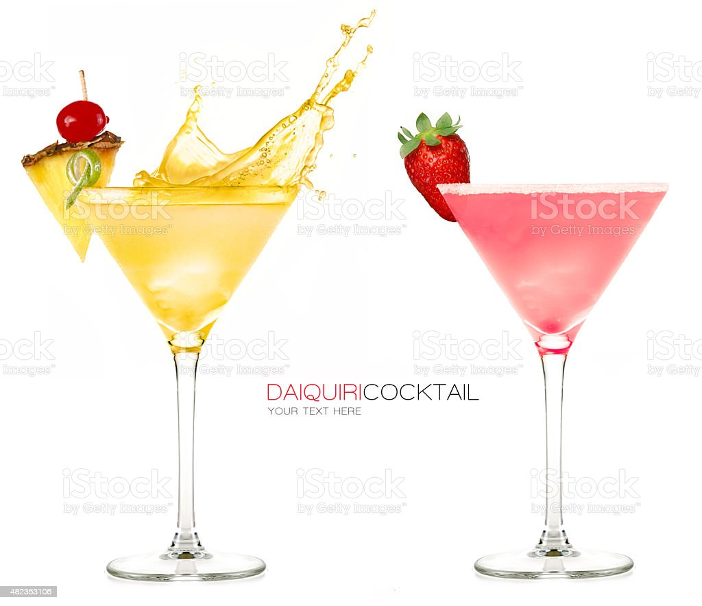 Daiquiri Frozen Cocktails. Splash stock photo