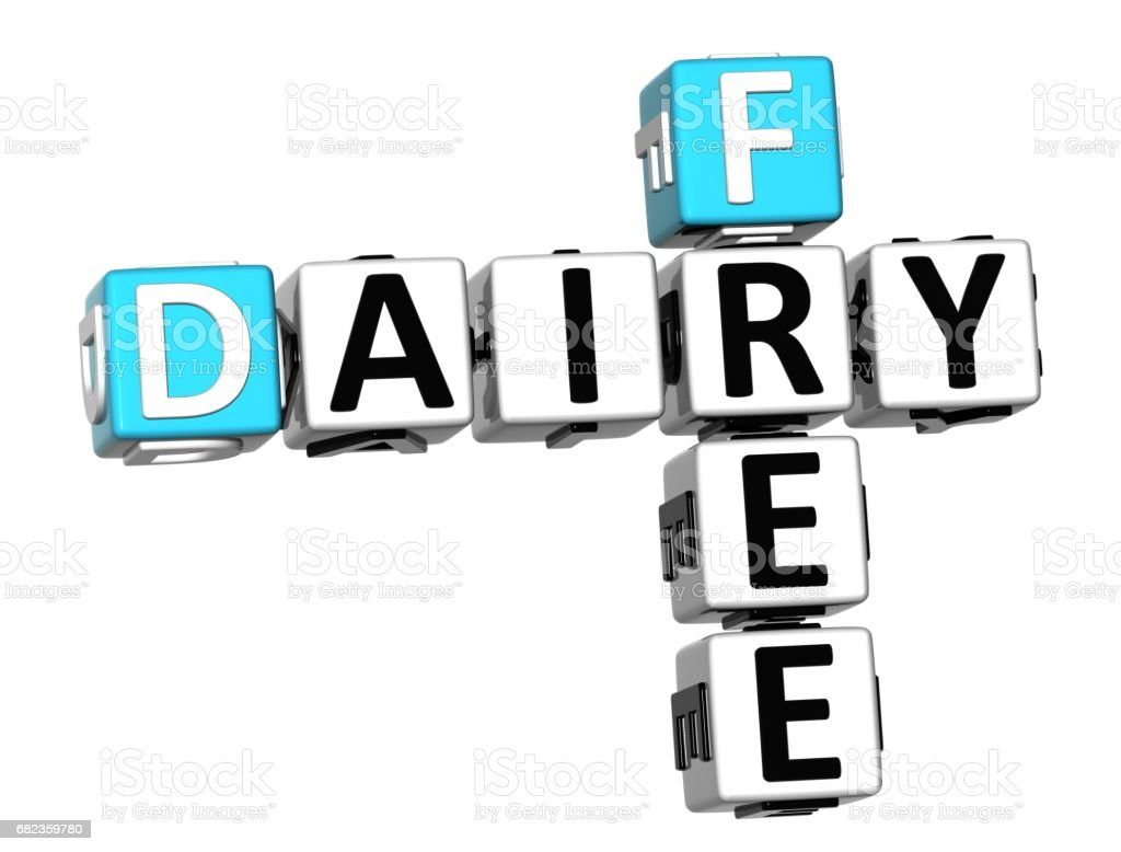 3D Dairy Free Crossword cube words royalty-free stock photo