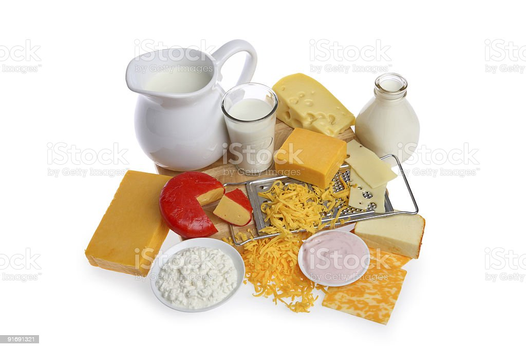 Dairy group stock photo