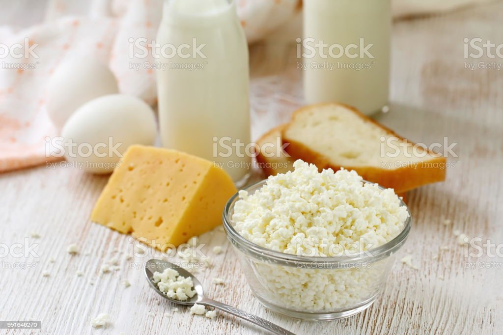 Dairy product for breakfast stock photo