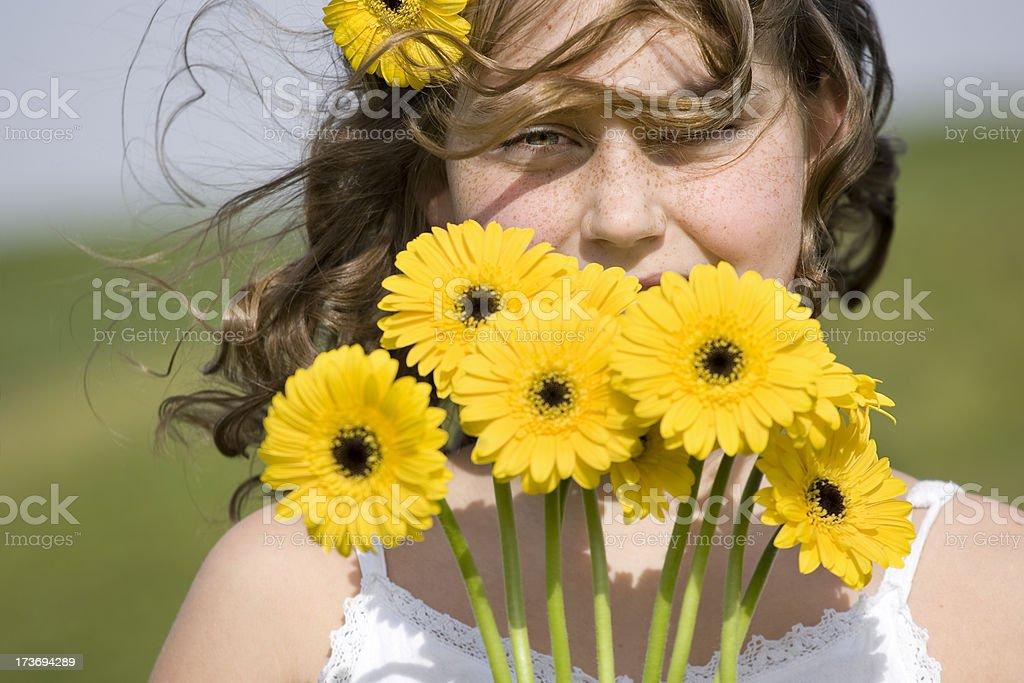 daisy girl stock photo