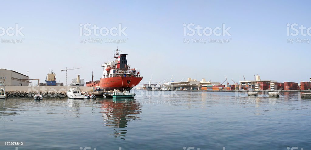 Dakar Harbour stock photo
