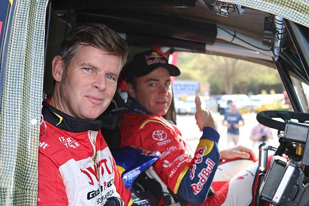 dakar legends navigator, dirk von zitzewitz and driver  giniel d - rally stock-fotos und bilder