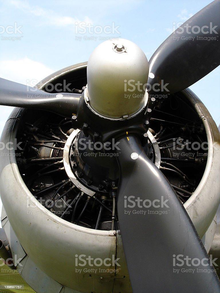 Dakota engine close up stock photo