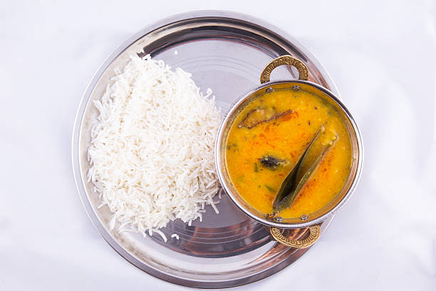 Dal fry and rice - a traditional indian food Dal fry and rice - a traditional north indian food dal makhani stock pictures, royalty-free photos & images