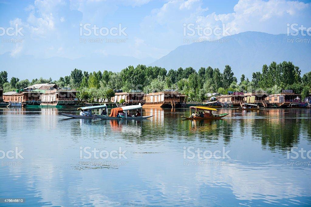 Dal lake at Srinagar, Kashmir, India stock photo