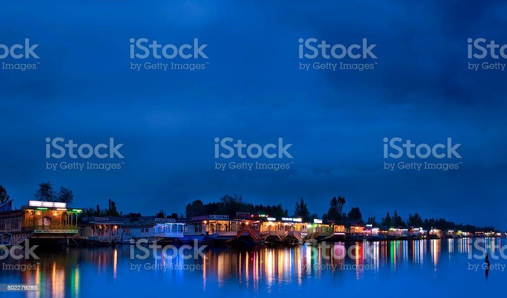 Dal Lake srinagar stock photo