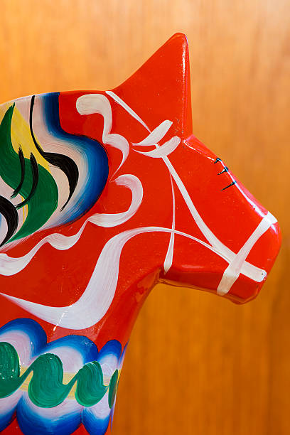 dalar-horse - dalarna pferd stock-fotos und bilder