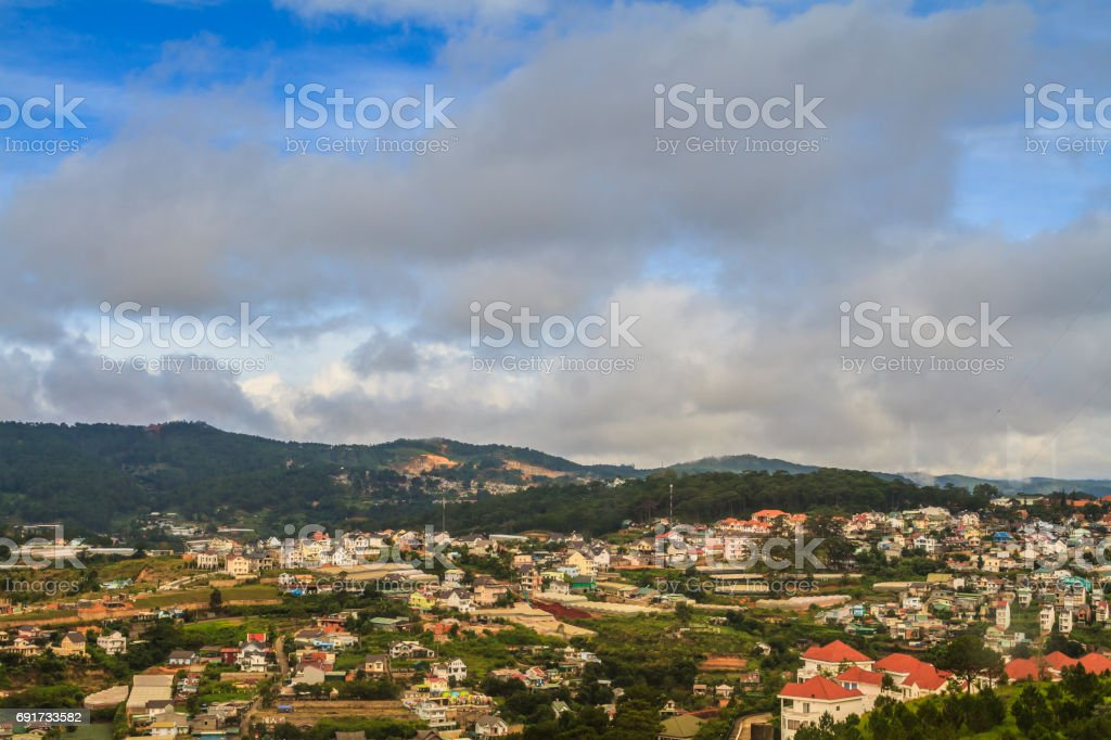 Dalat City Vietnam stock photo