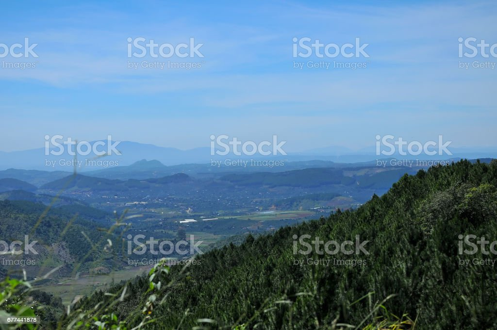 Dalat highland, Lam Dong, Vietnam stock photo