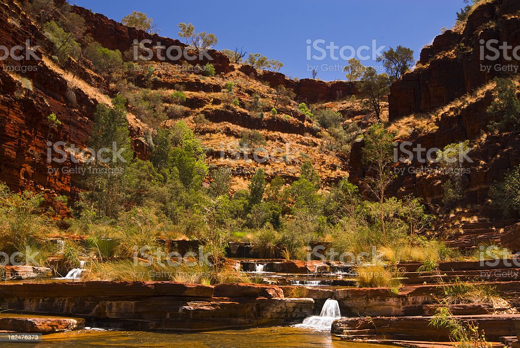 Dale Gorge Waterfall Karijini National Park royalty-free stock photo