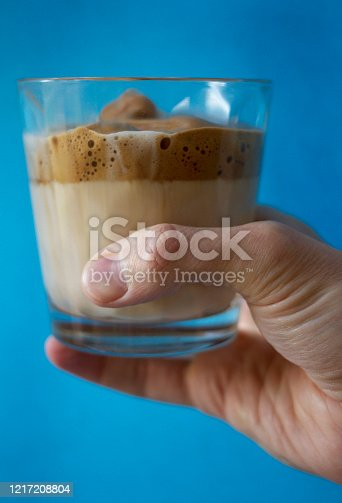 The drink originated from Rajasthan know has Phenti Hui Coffee in India (फेंटी हुई कॉफ़ी) or