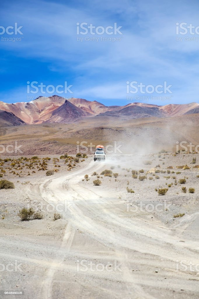 Dali Desert in Bolivia royalty-free stock photo