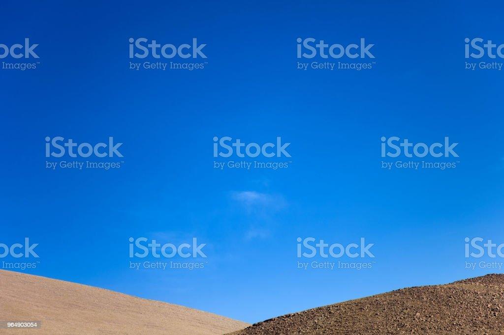 在玻利維亞的大理沙漠 - 免版稅乾的圖庫照片