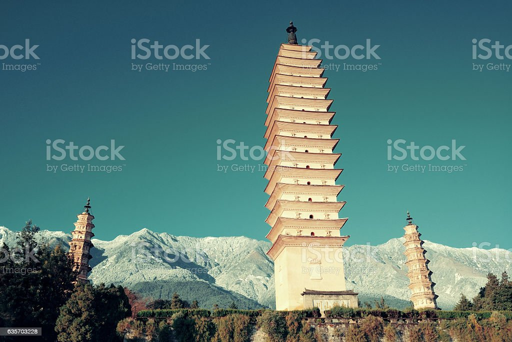 Dali pagoda royalty-free stock photo
