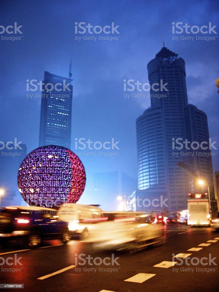 Dalian square stock photo