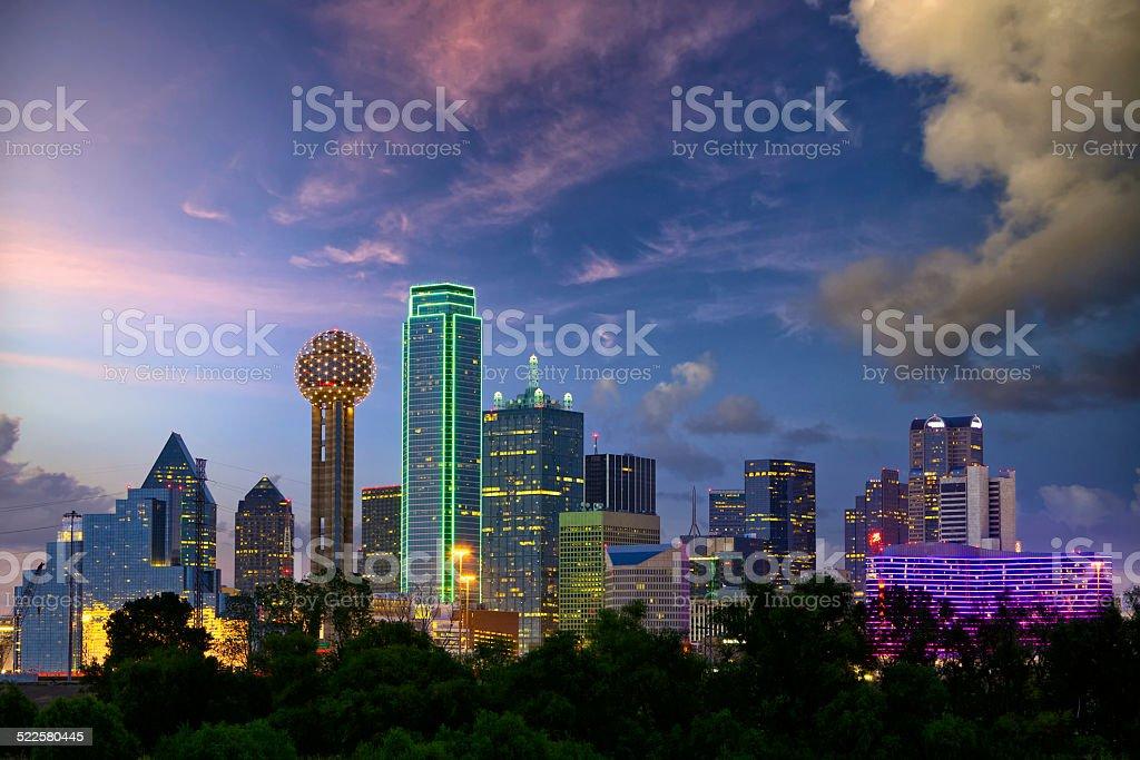 Dallas at dusk royalty-free stock photo