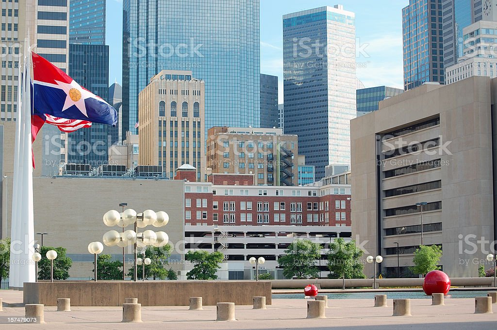 Dallas City Hall Square royalty-free stock photo