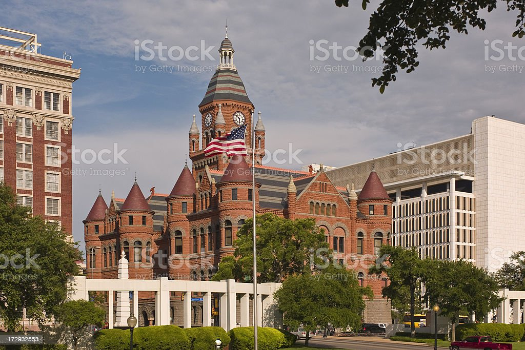Dallas County Courthouse and Dealey Plaza royalty-free stock photo