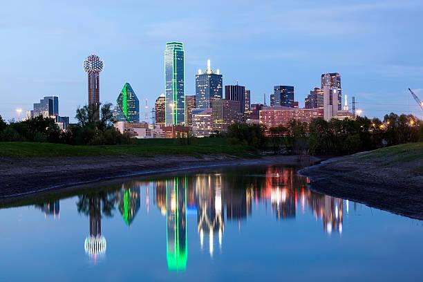 Dallas Downtown Skyline at night – Foto