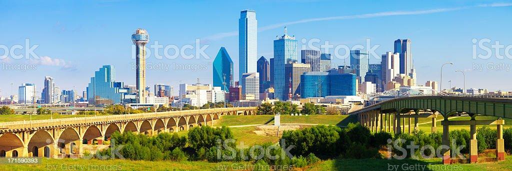 Panoramablick auf die Skyline der Innenstadt von Dallas – Foto