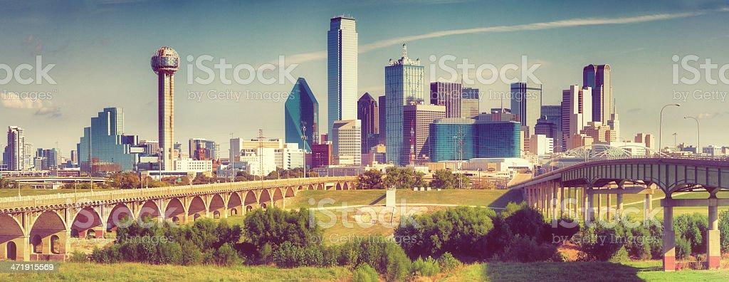Dallas Downtown Skyline Panoramic stock photo