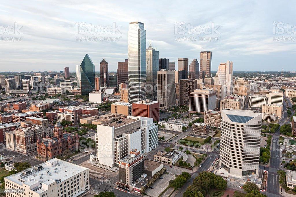 Dallas downtown skyline stock photo