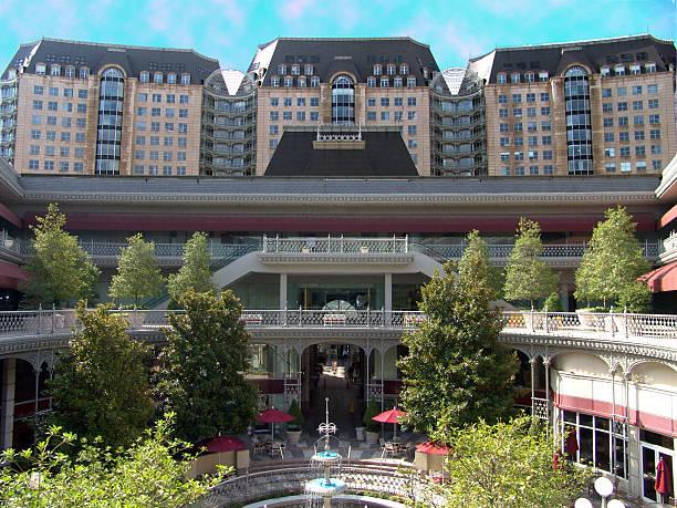 Dallas Hotel Courtyard stock photo