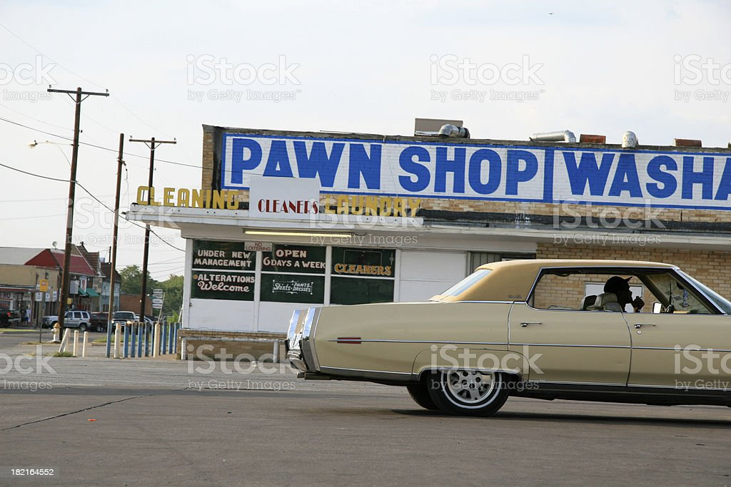 Dallas pawn shop and washateria royalty-free stock photo