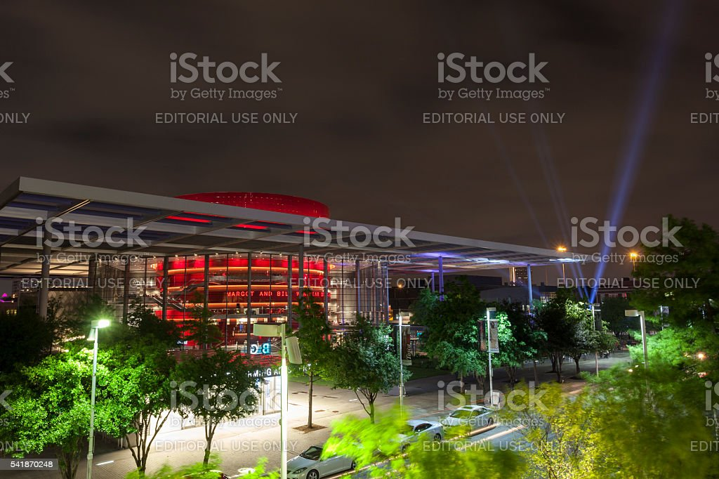 Dallas Performing Arts Center at night stock photo