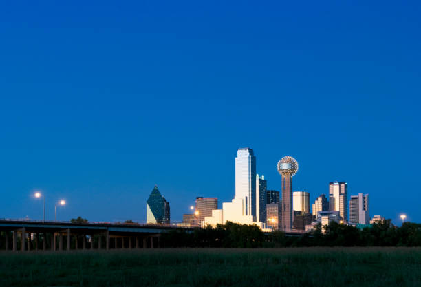 Dallas Skyline at Dusk stock photo