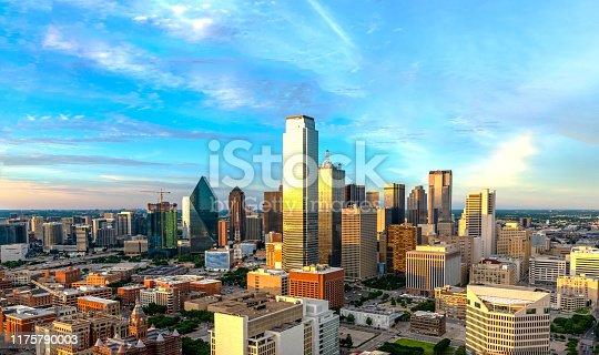 istock Dallas skyline at twilight 2019 1175790003