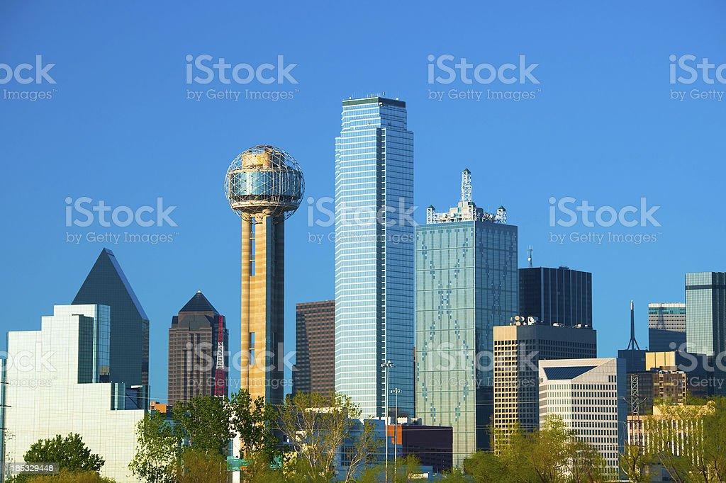 Dallas skyline building close up stock photo