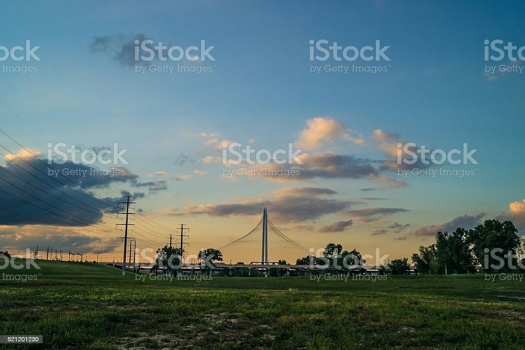 Dallas, Texas bridges over trinity near downtown royalty-free stock photo