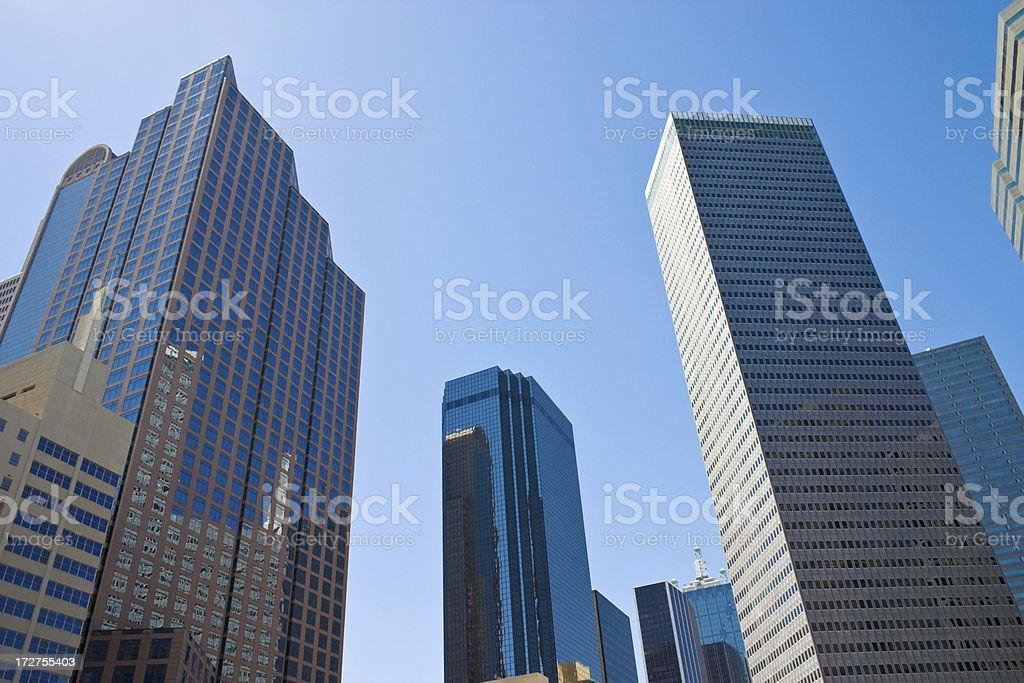 Dallas Texas city skylline cityscape skyscrapers stock photo