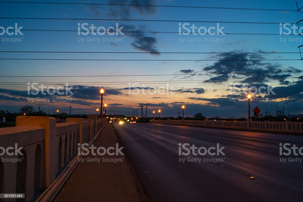 Dallas, Texas commerce Street bridge looking south royalty-free stock photo