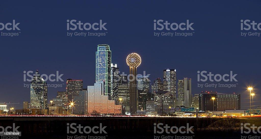 Dallas, Texas Skyline at Night stock photo