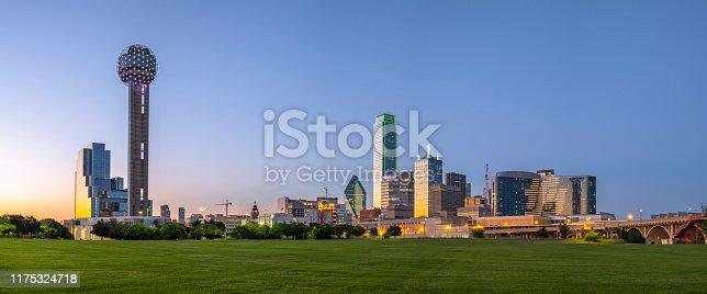 Dallas skyline panorama