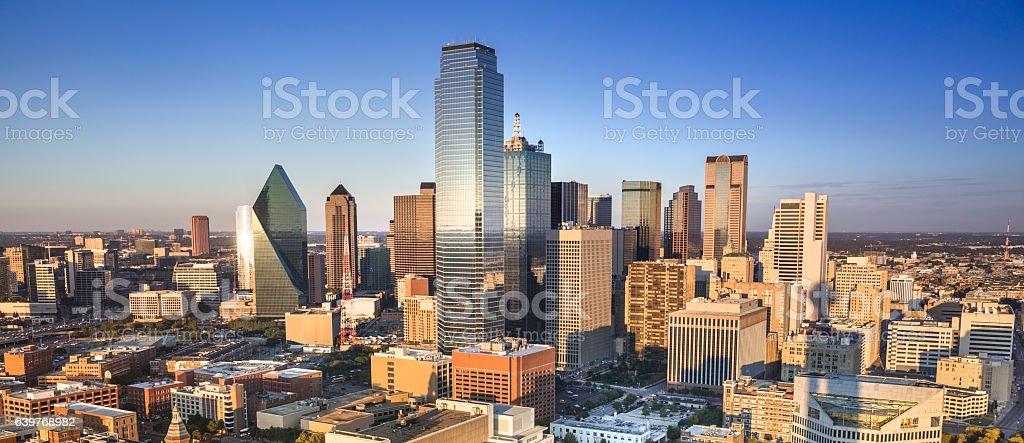 Dallas Texas skyline panorama stock photo