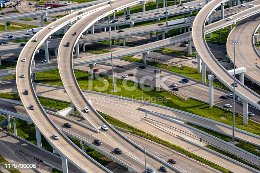 Dallas traffic aerial