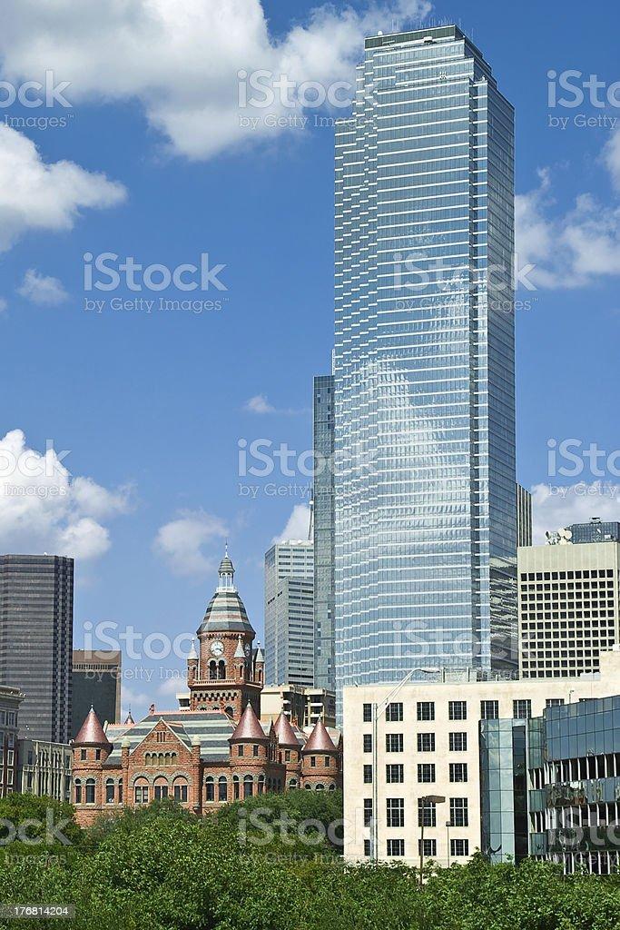 Dallas, TX Skyline (detail) stock photo