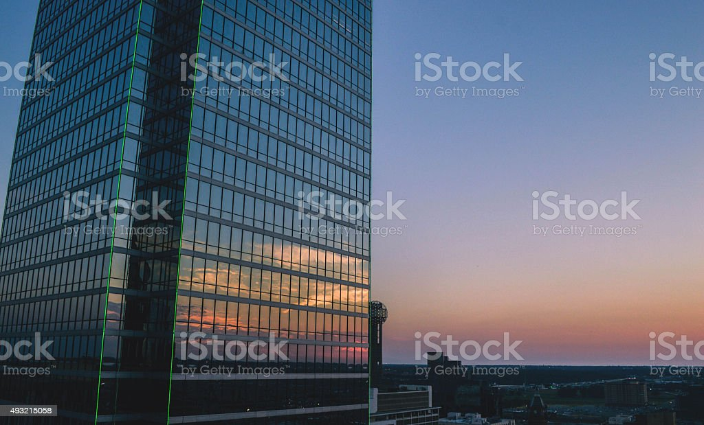 Dallas, TX Sunset stock photo