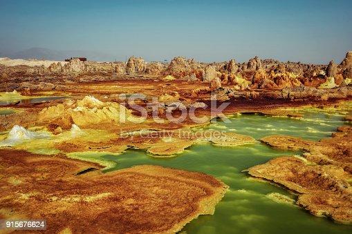 istock Dallol, Danakil Depression, Ethiopia. The hottest place on earth. 915676624